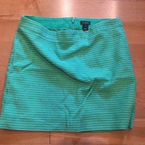 J Crew green skirt size 2